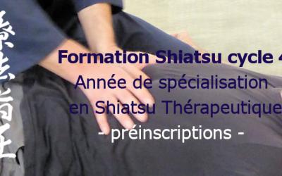 Formation cycle 4: spécialisation en Shiatsu thérapeutique